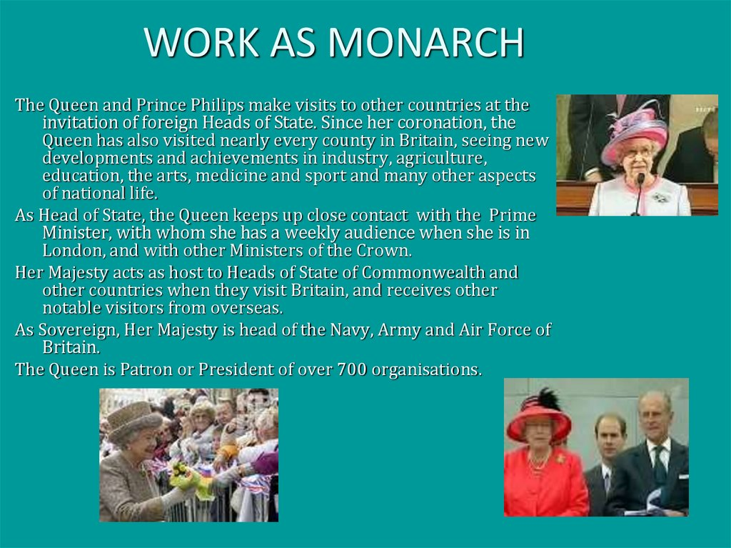 WORK AS MONARCH