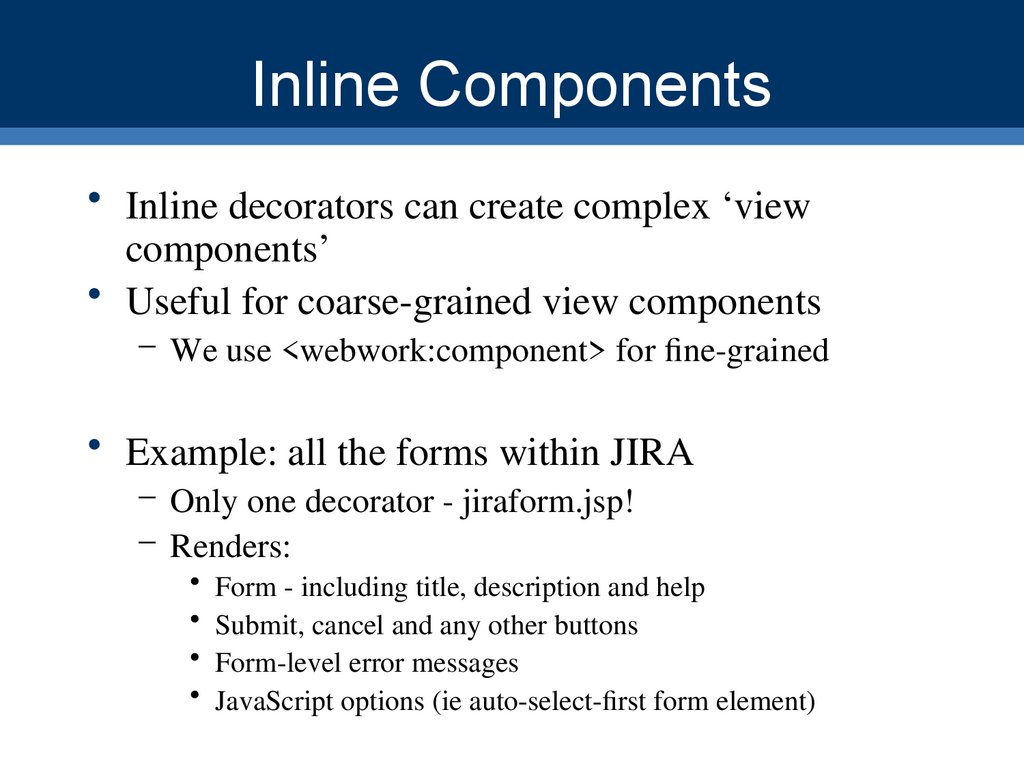 Inline Components