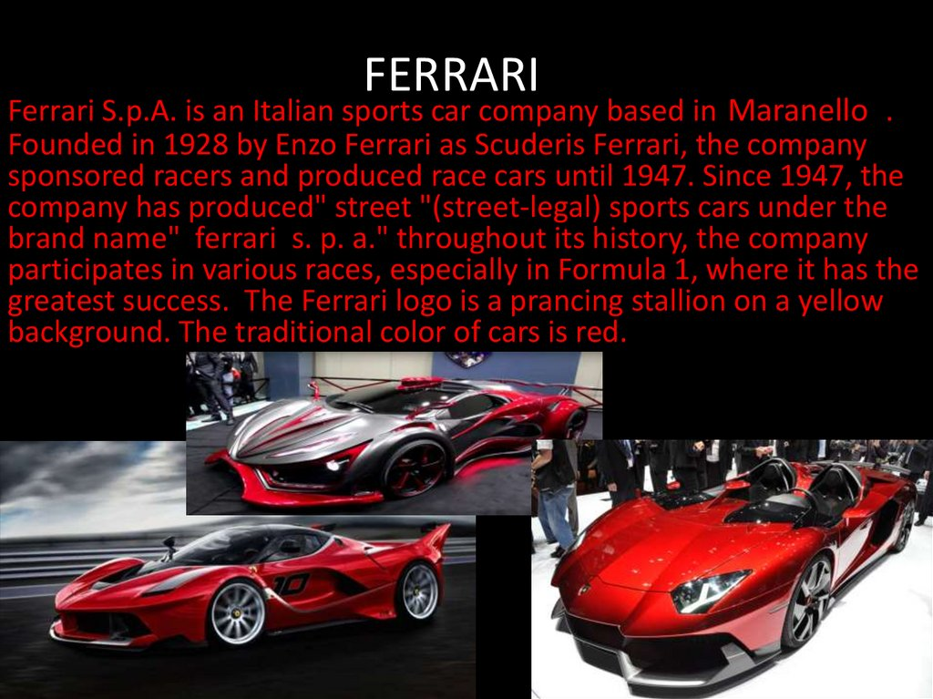 Ferrari Online Presentation