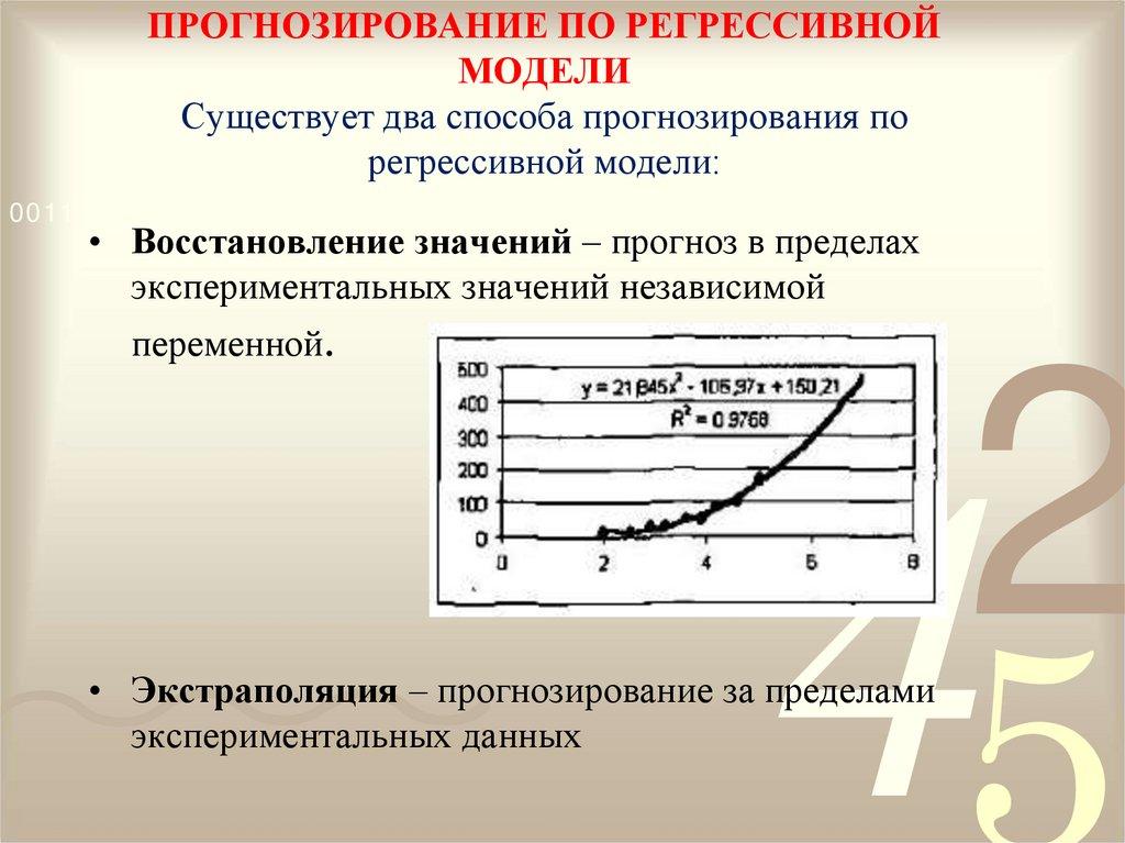 практическая работа модели статистического прогнозирования построение регрессионных моделей