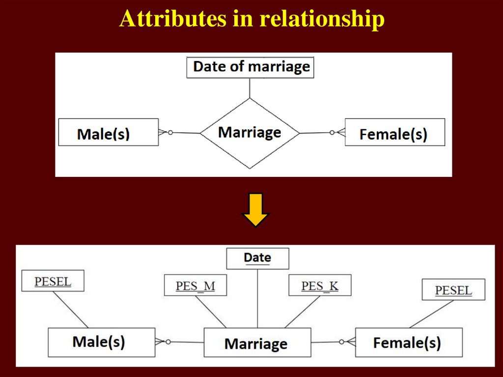Attributes in relationship