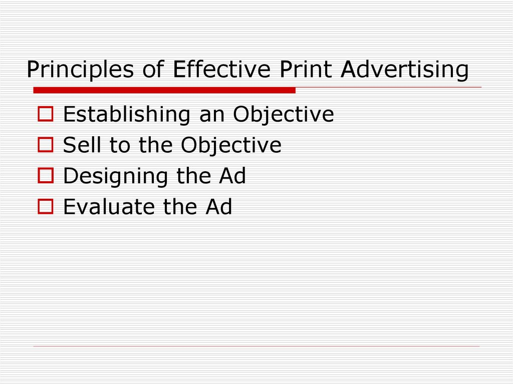 Principles of Effective Print Advertising