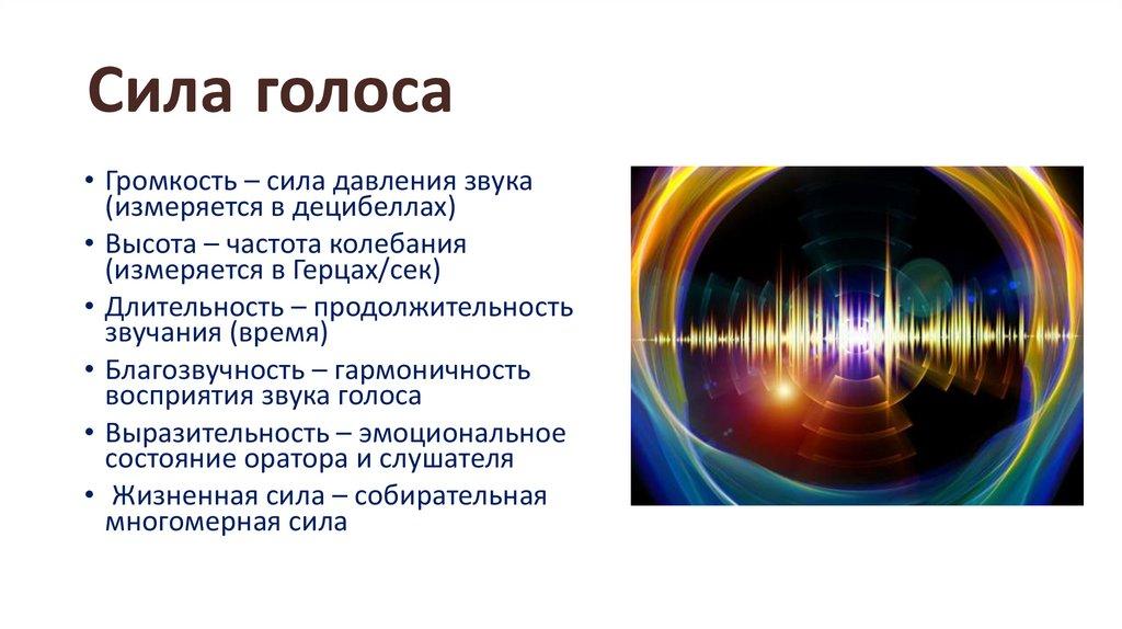 Пробуждение и развитие силы голоса - презентация онлайн